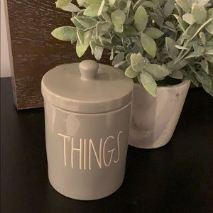 Rae Dunn Things Grey Canister